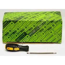 A111 Отвёртка шестигранник - вилочка 2х сторонняя резиновая ручка