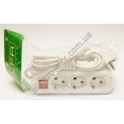 A132 Удлинитель 3 м с заземляющим контактом с выключателем