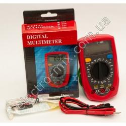 A732 Мультиметр со звуком и температурой 33C