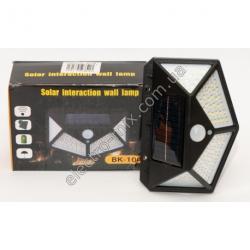 A825 Фонарик LED на солнечной батарее + датчик движения 100 LED