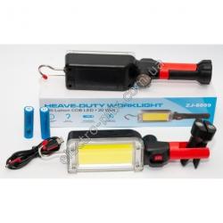 A827 Фонарик LED на аккумуляторе 18650 2 шт. + магнит и прищепка