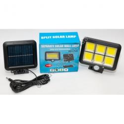 A832 Фонарик LED + датчик движения + солнечная панель